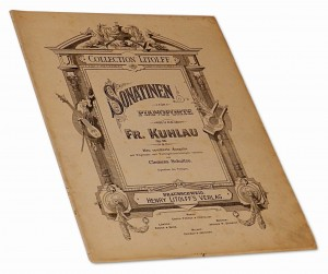 Sonatinen fur Pianoforte von Fr. Kuhlau Op. 55 Collection Litolff